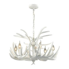 Dimond Lighting Big Sky - Six Light Chandelier, White Finish