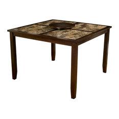 Alpine Furniture Capitola Large Wood Pub Table In Espresso