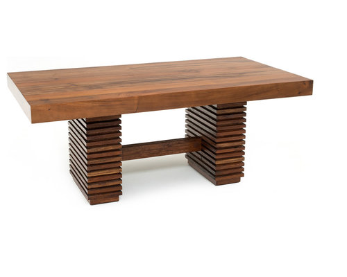 Thick Modern Chic Wood Table - Dining Tables