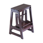 Winsome Wood Transitional Antique Walnut Composite Wood Bar Stool