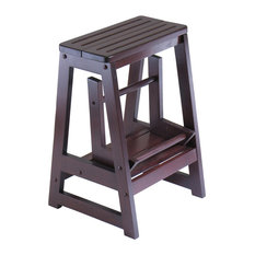 Winsome Wood Antique Coffee Wood Step Stool