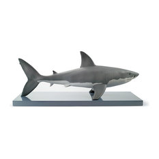 Lladro White Shark Figurine