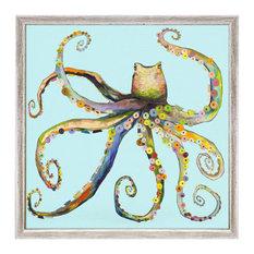 """Bright Octopus"" Mini Framed Canvas by Eli Halpin"