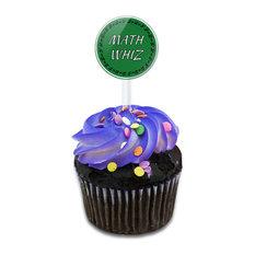 Math Whiz Cupcake Toppers Picks Set