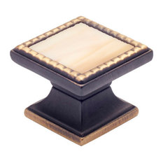 Classico Antique Bronze Round Knob, Almond, Square Knob