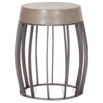 Palliser Furniture - Palliser Furniture, Elletra Concrete Top End Table, Round, Space Gray - The elegant curves and industrial styling of the Elletra end table make a unique statement. Gunmetal finish on the cage-style base and a space grey concrete top combine for a look that will complement urban and modern spaces.