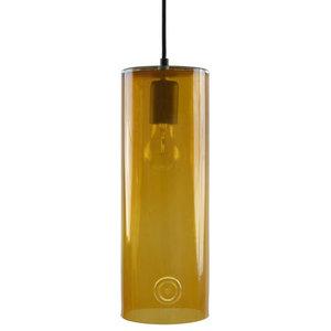 Glass Cylinder Pendant Light, Honey