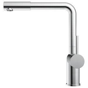 Rhythm Kitchen Mixer Tap, Straight, Brushed Stainless Steel