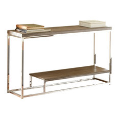 steve silver company archis sofa table gray and brown console tables