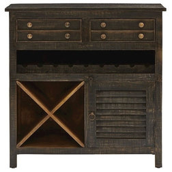 Rustic Wine And Bar Cabinets by BisonOffice