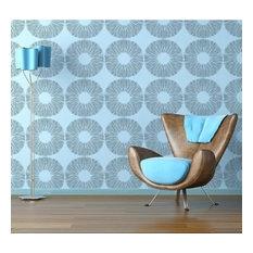 Spore Print Allover Stencil, Reusable Stencils For DIY Wall Decor