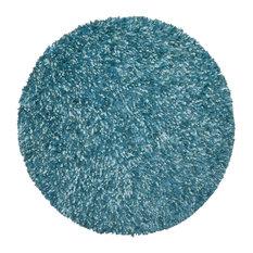 St Croix   Shimmer Shag Round Rug 5u0027x5u0027, Aqua Blue   Kids
