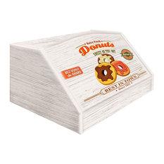 Donuts Wooden Bread Bin