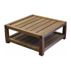 Timbo   Timbo Vila Rica Hardwood Outdoor Patio Square Coffee Table   Outdoor  Coffee Tables