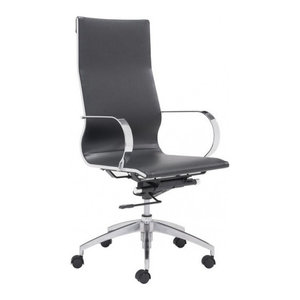 Modern Slide High Back Management Office Chair, Black