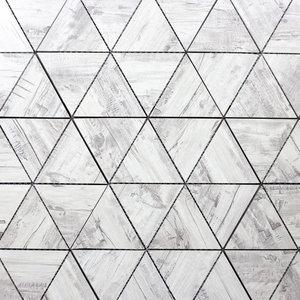 "12""x11.625"" Brichwood Gray Wood Look Glass Wall Tile, Set of 10"