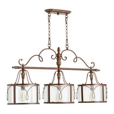 Quorum Salento 3-Light Island Light, Vintage Copper