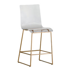 Gabby King Acrylic Counter Stool, Gold