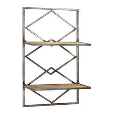 Wall shelf rack Kitchen American Art Decor Wood And Metal Hanging Shelf Rack Display And Wall Shelves Houzz 50 Most Popular Display And Wall Shelves For 2019 Houzz