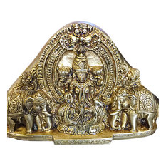 Mogul Interior - Goddess Lakshmi Brass Statue- Hindu Deity of Wealth & Prosperity Religious Gift - Decorative Objects And Figurines