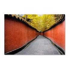 "Philippe Hugonnard 'Alley Bamboo' Canvas Art, 47""x30"""