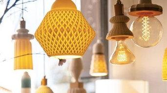 création de luminaires en porcelaine