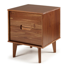 Mid Century Modern Wood Nightstand, Walnut
