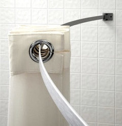 Superieur Http://www.webstaurantstore.com/5 Aluminum Curved Shower Curtain Rod  With Chrome Finish/327A00KIT046.html