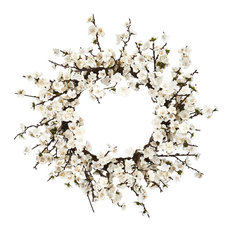 "Nearly Natural, Inc. - 24"" Plum Blossom Wreath - Wreaths and Garlands"