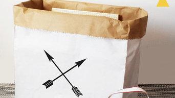 Sacs de rangement en papier Arrows