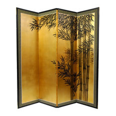 5 1/2' Tall Gold Leaf Bamboo Room Divider