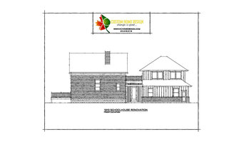 1910 Schoolhouse Renovation Front Elevation