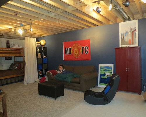 Industrial Look Out Basement Design Ideas Pictures Remodel Amp Decor