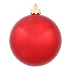 "Vickerman 2.4"" Shiny Ball, Set of 60, Red"
