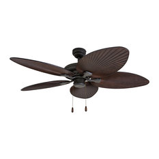 "52"" Boca Grande Bronze Indoor Ceiling Fan with Remote Control"