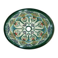 Casa Daya Tile And Sink Co.   Talavera Handpainted Mediterranean Style Sink    Bathroom Sinks