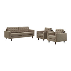 Oatmeal Empress Sofa And Armchairs Set Of 3