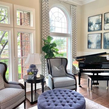 Transitional Classic Coto de Caza Living Room