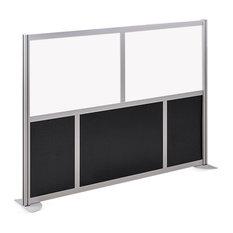 "At Work Divider Panel - 73.25""W x 53""H - Black/White Laminate"