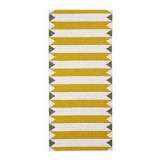 Peak Woven Vinyl Floor Cloth, Yellow, 70x100 Cm