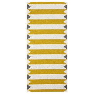 Peak Woven Vinyl Floor Cloth, Yellow, 70x200 Cm