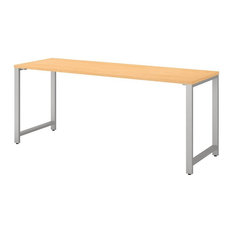 """Bush Business Furniture 400 Series 72"""" x 24"""" Writing Desk in Natural Maple"""