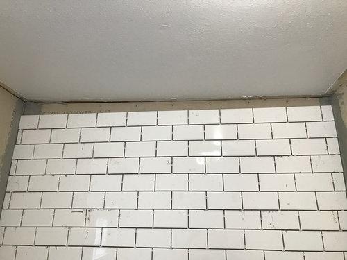Ceiling Over Tile Shower Is Slanted