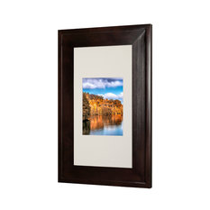 """Concealed Picture Frame Medicine Cabinet, Coffee Bean, 14""""x24"""""""