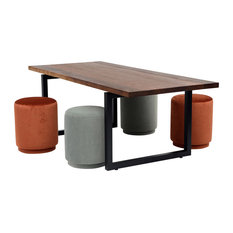 GAX Dining Table, Matte Black, 96""