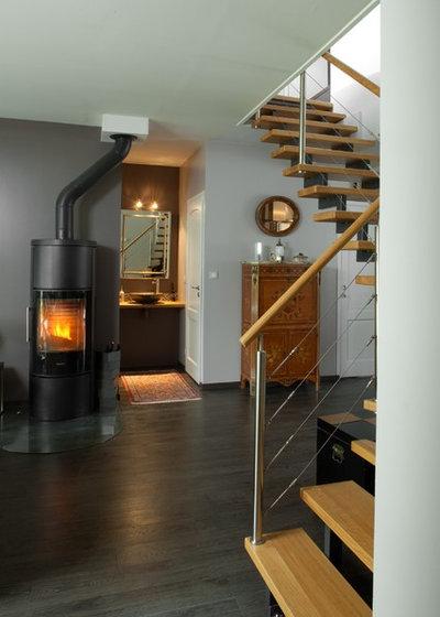 Contemporain Escalier by Romain Lucas - Architectes d'intérieur - Ebéniste