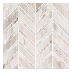 Palisandro Chevron Polished Pattern Mosaic, Sample