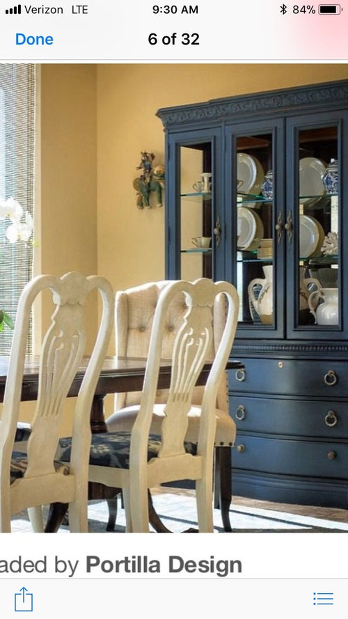 What Color Should The China Cabinet Be Painted