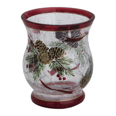 Crack Glass Pine Cone Tealight Holder