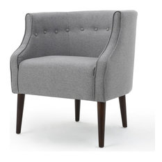 GDFStudio   Davidson Tub Accent Chair, Gray   Armchairs And Accent Chairs